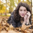 Woman portret in autumn leaf — Stock Photo #59223309