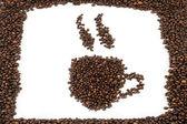 Mugs of coffee beans — Stock Photo