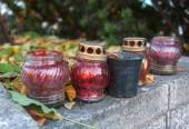 Memorial candles dedicated to Heaven sotnia ,people who died dur — Foto de Stock