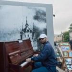 UKRAINE, KIEV - September 9,2013: Andrew's Descent, casual passe — Stock Photo #61804093