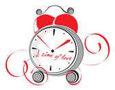 A time of love. Vector illustration — Stock Vector