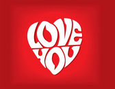 Declaration of love in the form of heart. Vector illustration — 图库矢量图片