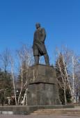 Statue of Vladimir Lenin. Novorossiya, Makeevka — Stock Photo