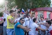 Donetsk, Ukraine - June 11, 2012, Soccer fans — Stock Photo