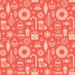 Seamless pattern for Christmas and New Year events. — Stock Vector #59090251