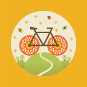 Summer bicycle. Vector illustration. — Stock Vector