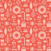 Seamless pattern for Christmas and New Year events. — Stock Vector
