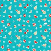 Festive seamless pattern for Christmas and New Year events. — Stock Vector