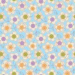 Seamless pattern with buttons and flowers. — Stock Vector #59648565