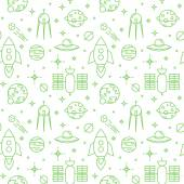 Seamless space pattern. — Stock Vector