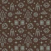 Seamless space  pattern. Childish background. — 图库矢量图片