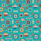 Sweets and candies seamless pattern. — Stock Vector