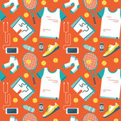 Seamless pattern with sports icons. — Stock Vector