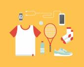 Sport and healthy lifestyle vector illustration. — Stock Vector