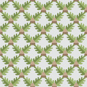 Abstract oak leaves and acorns pattern. — Stock Vector