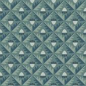 Geometric oak leaf and acorn seamless pattern. — Vetorial Stock