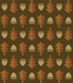 Stylized oak leaf and acorn pattern. — Stock Vector