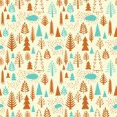 Seamless forest pattern. — Stock Vector