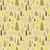 Seamless autumn forest pattern. — Stock Vector