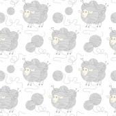 Seamless sheep pattern. — Stock Vector