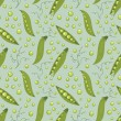 Seamless pattern of green peas. — Stock Vector #62668057