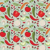 Vegetables seamless vector pattern. — Stock Vector