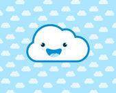 Happy smiling cloud. — Stock vektor