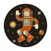 Astronaut in space. Vector illustration. — Stock Vector