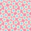 Seamless colorful pattern with buttons and flowers. — Stock Vector #66131141