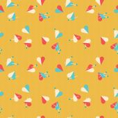 Hearts and pins seamless pattern. — Stock Vector