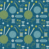 Seamless pattern with needlework accessories. — ストックベクタ