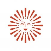 Sun vector icon. — Stock Vector