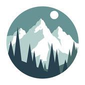 Snowy mountains. — Stock Vector