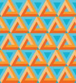 Seamless colorful triangle pattern. — Stock Vector