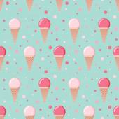 Ice cream cones seamless pattern. — Vector de stock