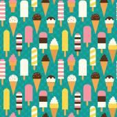Seamless ice cream pattern. — Stock Vector