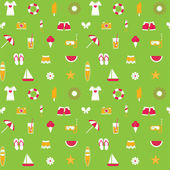 Seamless pattern with colorful summer icons. — Stock Vector
