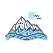In den bergen. vektor-illustration. — Stockvektor