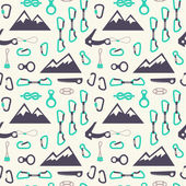 Climbing equipment vector pattern. — Stock Vector