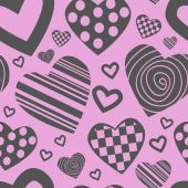 Valentine's seamless pattern with hearts — Stockvektor