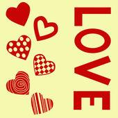Valentines postcard — Stock Vector