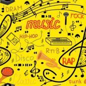 Wzór muzyki — Wektor stockowy