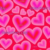 心でバレンタインのシームレス パターン — ストックベクタ