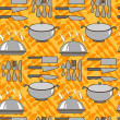 Постер, плакат: Seamless pattern with kitchen items