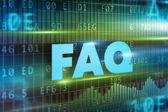 FAQ text concept — Stock Photo