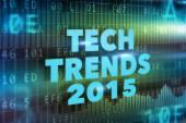 Tech Trends 2015 concept — Stock Photo