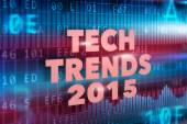 Tech Trends 2015 concept — Stock Photo