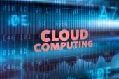 Cloud computing technology concept — Stock Photo