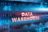 Data warehouse technology concept — Stock Photo