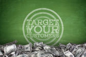 Target your customers on Blackboard  — Stock Photo
